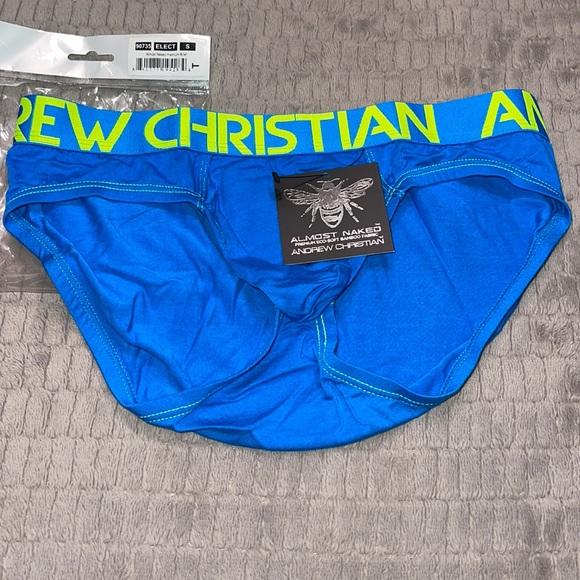 Andrew Christian men's briefs.